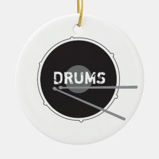 Drums Drummer Percussion Minimal Rock Music Cool Ceramic Ornament
