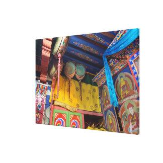 Drums Inside A Temple Canvas Print