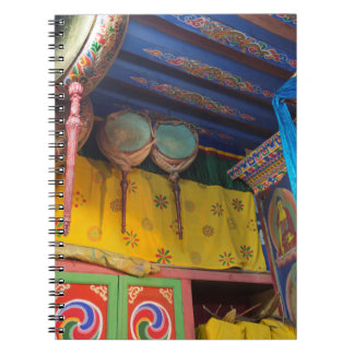 Drums Inside A Temple Notebook