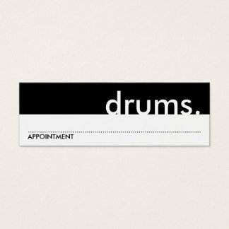 drums. music lessons appointment card