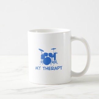 Drums my therapy basic white mug