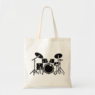 Drums percussion tote bag