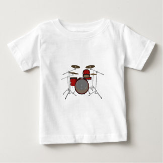 Drums: Red Drum Kit: 3D Model: Baby T-Shirt