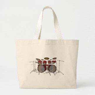 Drums: Red Drum Kit: 3D Model: Jumbo Tote Bag