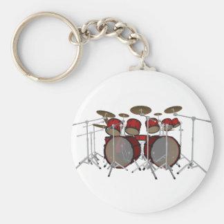Drums: Red Drum Kit: 3D Model: Key Ring