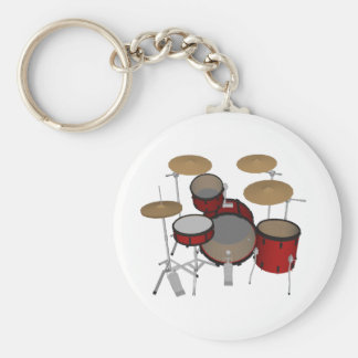 Drums Red Drum Kit 3D Model Keychains