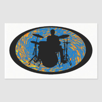Drums the Souled Rectangular Sticker