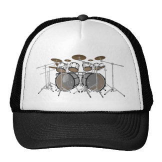 Drums: White Drum Kit: 3D Model: Cap
