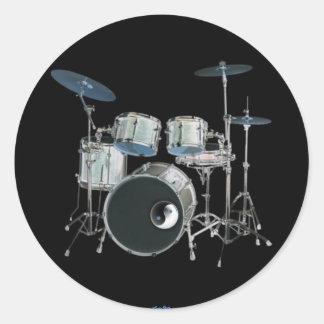 Drums & Yin-Yang Sticker