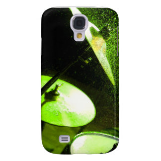 Drumset Abstract Glowing Green Galaxy S4 Cover