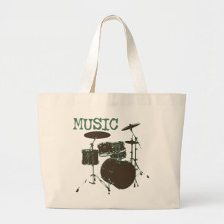Drumset Large Tote Bag