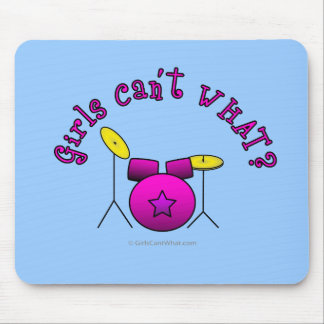 Drumset - Pink Mouse Pads
