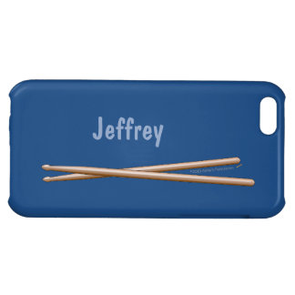 Drumsticks iphone Case for Drummers Your Color iPhone 5C Cases