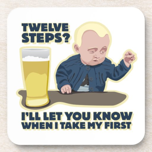 Drunk Baby 12 Step Program? Drink Coaster