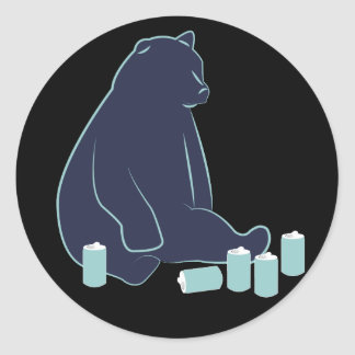 Drunk Bear Stickers
