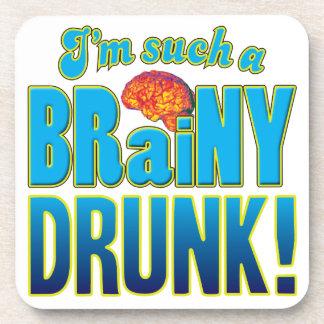Drunk Brainy Brain Beverage Coasters