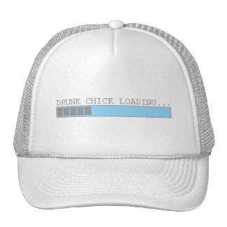 Drunk chick loading funny party club girls humor cap
