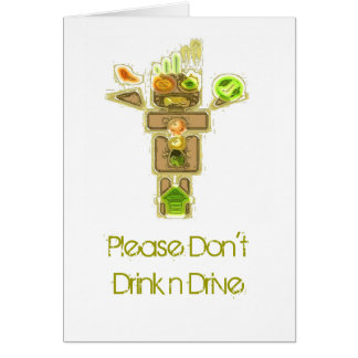 Drunk Driver Blurred Vision Greeting Card