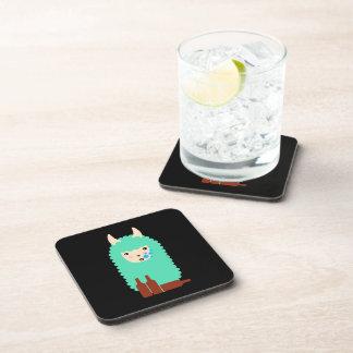 Drunk Emoji Llama Beverage Coasters
