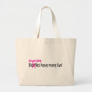 Drunk Girls Have More Fun Large Tote Bag
