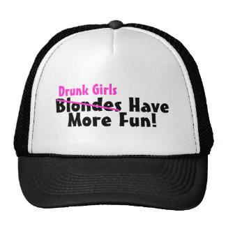 Drunk Girls Have More Fun Pink Cap