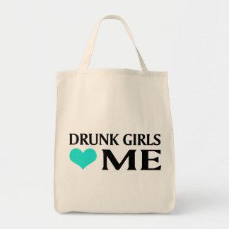 Drunk Girls Love Me Grocery Tote Bag