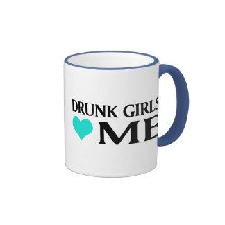 Drunk Girls Love Me Ringer Coffee Mug