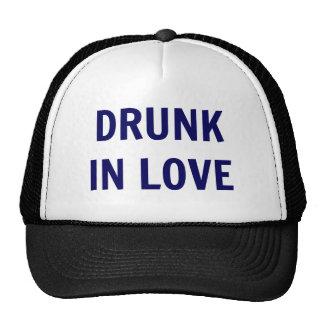 'Drunk In Love' Trucker Hat - Navy Text