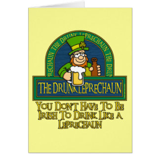 Drunk Leprechaun Card