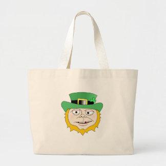 Drunk Leprechaun Jumbo Tote Bag