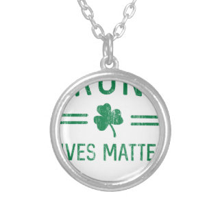 Drunk Lives Matter Silver Plated Necklace