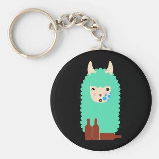Drunk Llama Emoji Key Ring