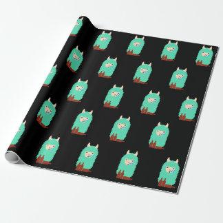 Drunk Llama Emoji Wrapping Paper