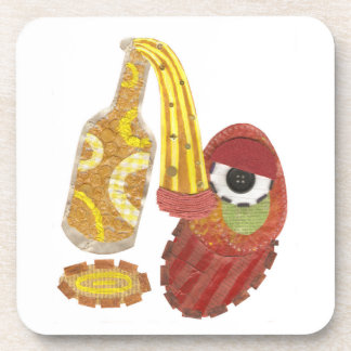 Drunk Mango Plastic Coasters