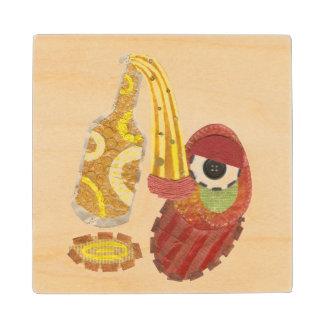 Drunk Mango Wooden Coaster Maple Wood Coaster