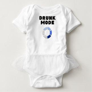 drunk mode loading, funny drinking design gift baby bodysuit