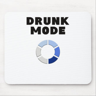 drunk mode loading, funny drinking design gift mouse pad