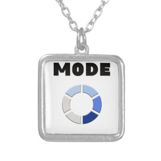 drunk mode loading, funny drinking design gift silver plated necklace
