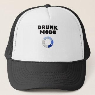 drunk mode loading, funny drinking design gift trucker hat