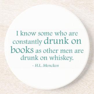 Drunk On Books Beverage Coasters