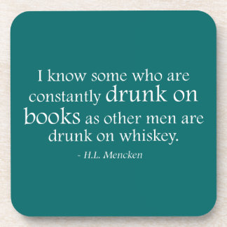Drunk On Books Drink Coasters