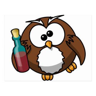 Drunk Owl Postcard