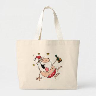 Drunk Santa Claus Tote Bags