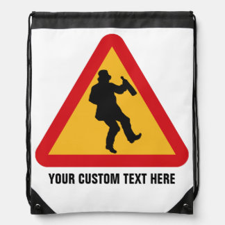 Drunk Warning custom backpack