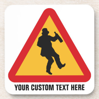 Drunk Warning custom coasters