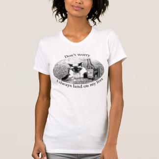 drunken cat T-Shirt