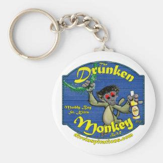 Drunken Monkey Bar Basic Round Button Key Ring