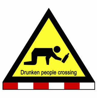 Drunken people crossing ⚠ Thai Sign ⚠ Standing Photo Sculpture