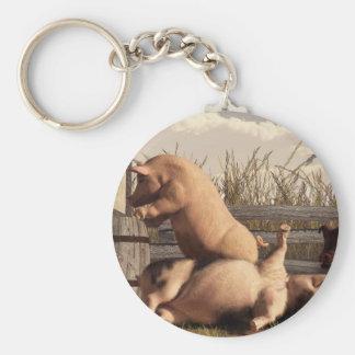 Drunken Pigs Basic Round Button Key Ring