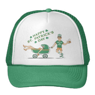 Drunken Saint Pattys Day Trucker Hat